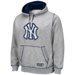 quality design 1f878 f634c New York Yankees Forged Grey Hoodie by Majestic. This fleece ...