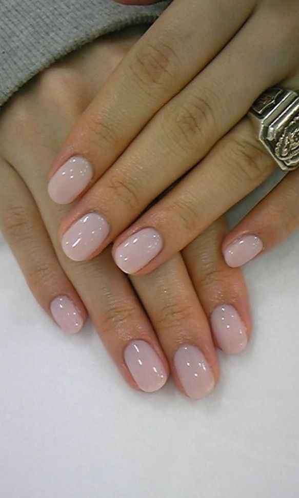 Nail Art to Try: Nude Nails | Pale pink nails, Pink nails and Bubble ...