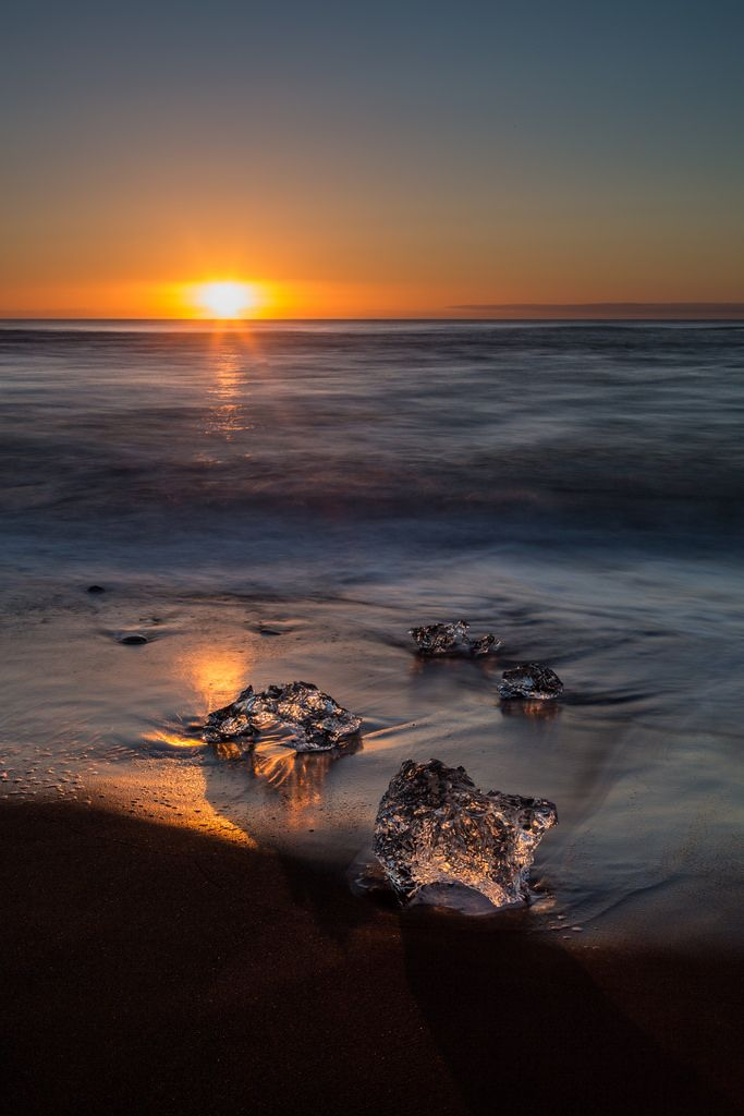 Rising sun touches the ice - Daniel Peter