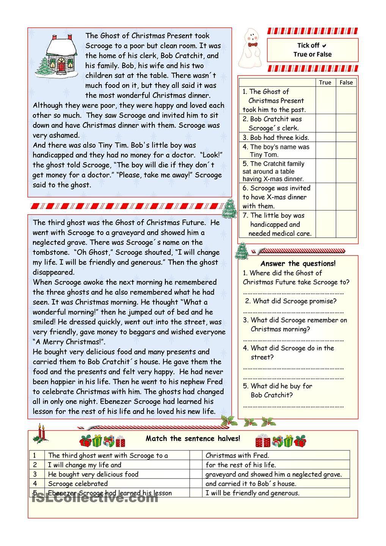 worksheet A Christmas Carol Worksheets a christmas carol simplified version key included worksheet free esl printable worksheets made by teachers