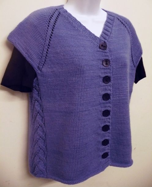 Cabin Fever Deb Gemmell Side Pattern Vest Knitting Pinterest