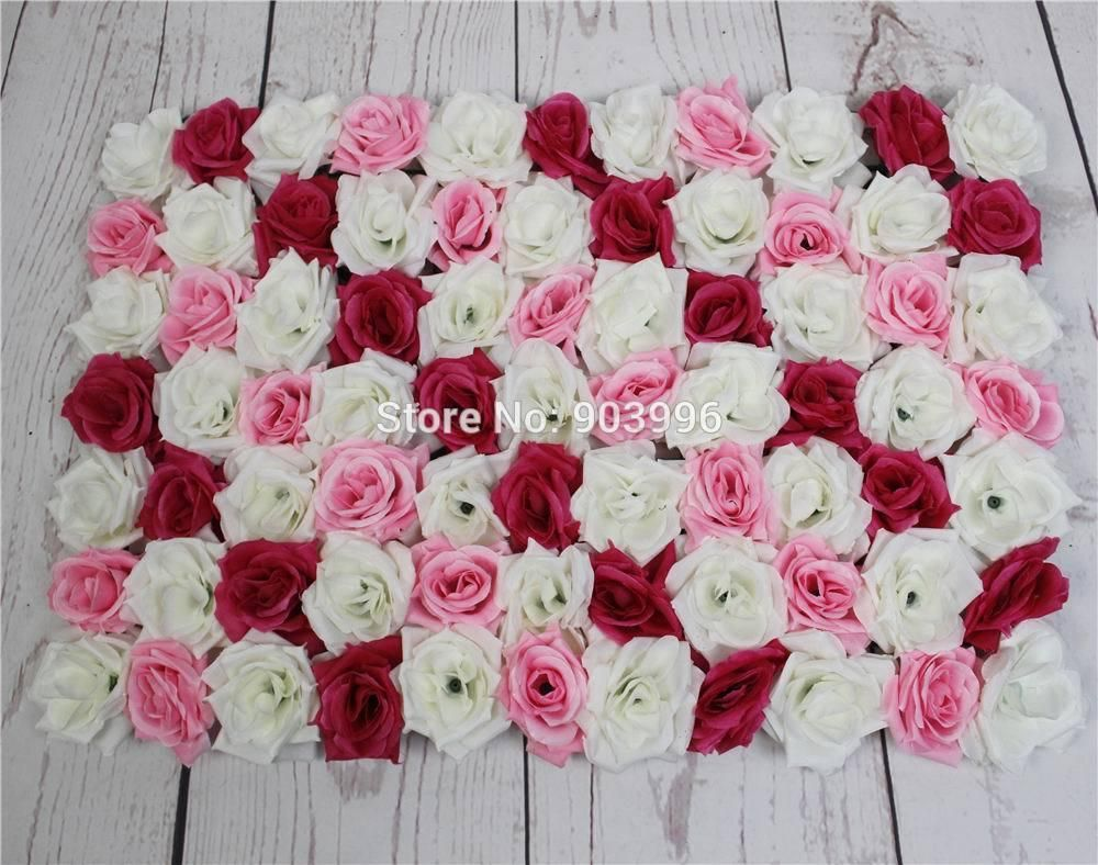 Wedding decorations background  SPR mix color Shipping cm Artificial silk rose flower wall
