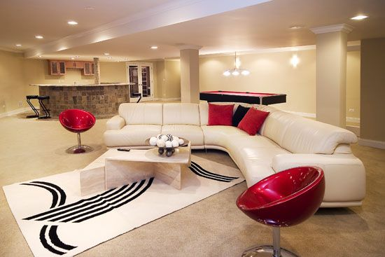 Basement Living Room Designs Best How About This For A Basementremodelingidea  Fabulous Design Ideas