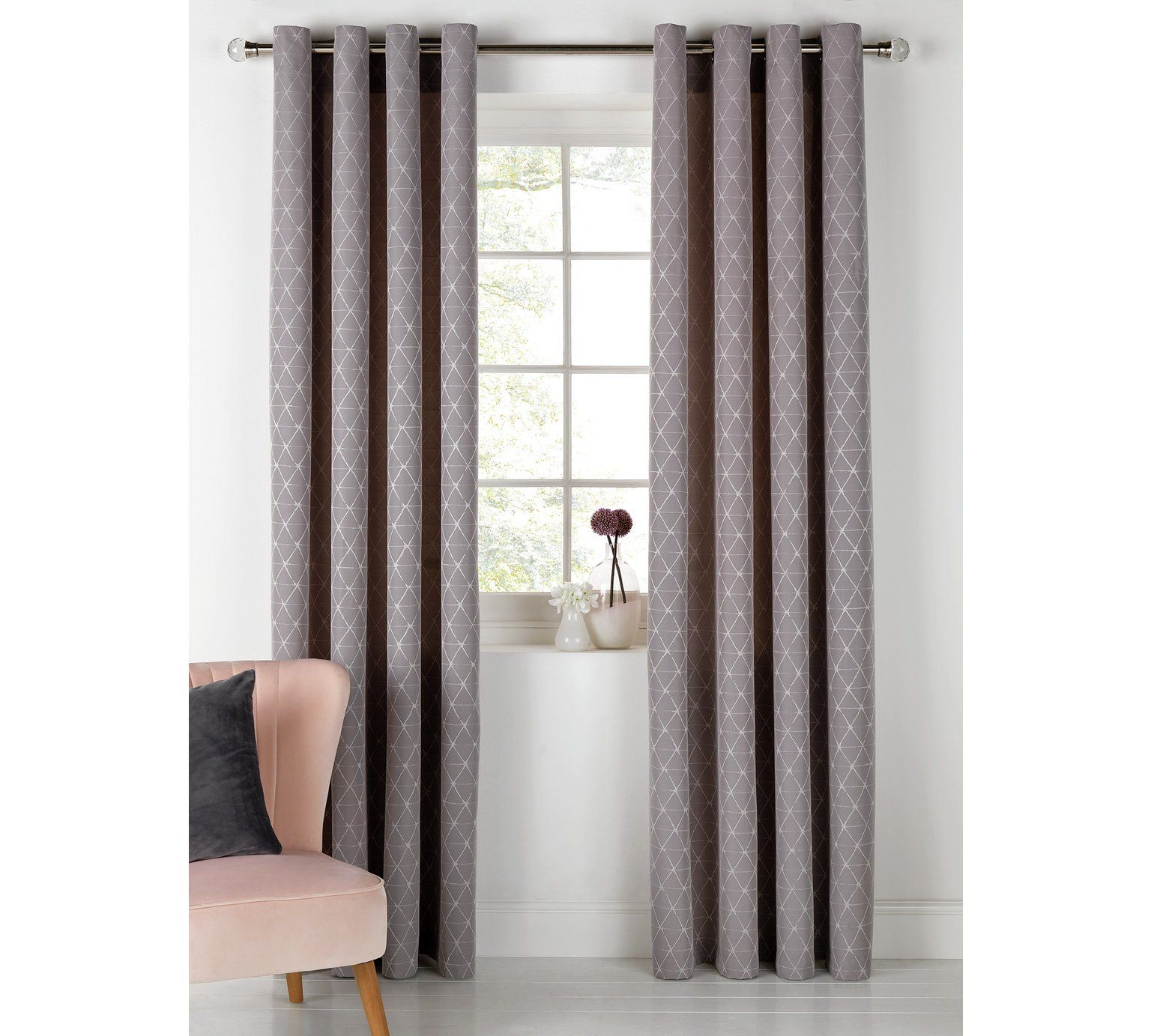 Buy heart of house askel jaquard lined curtains xcm grey at