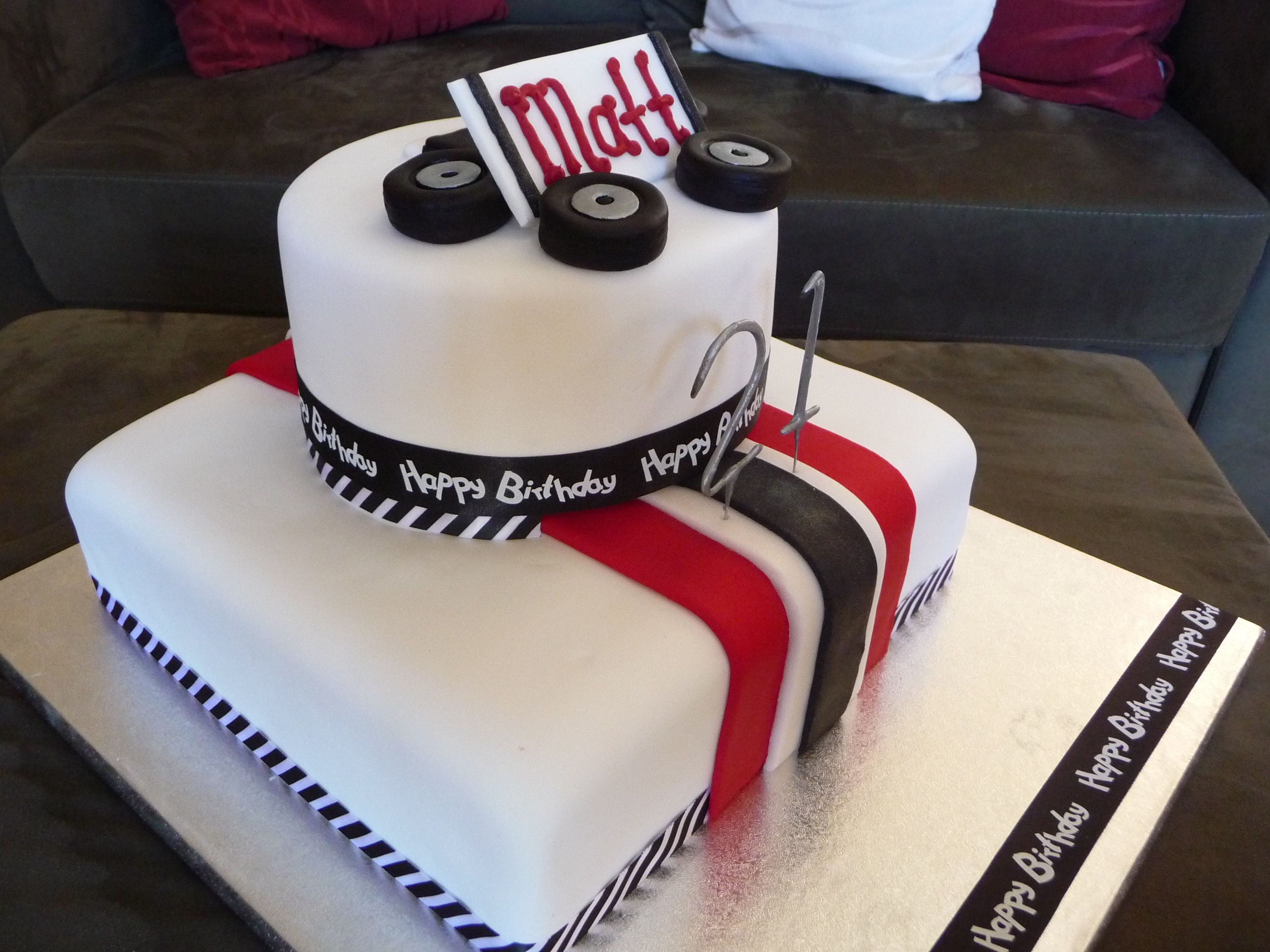 A 21st Race Car Themed Cake
