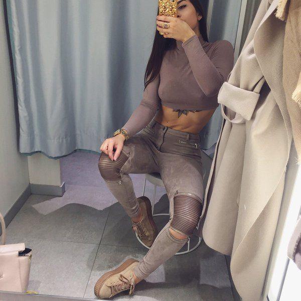 puma leggings beige
