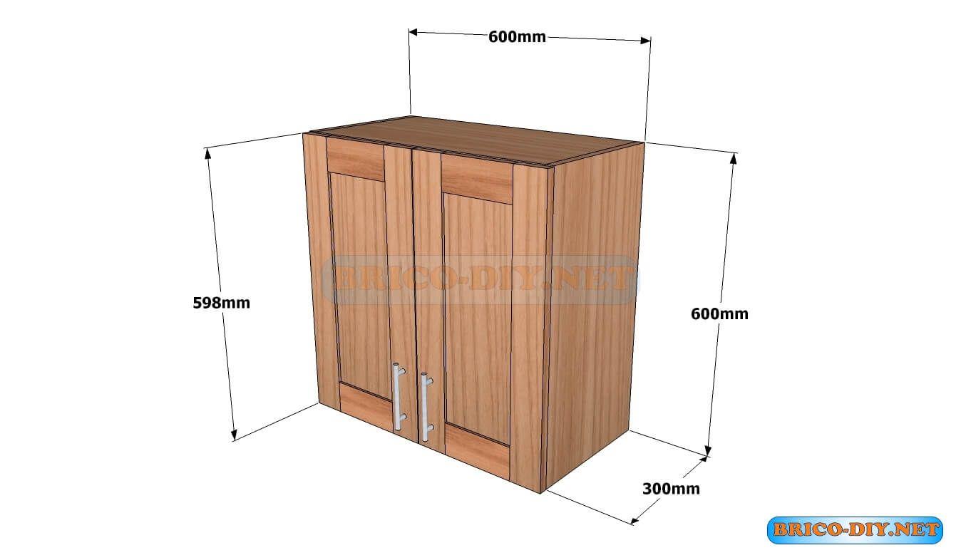 Mueble alacena a rea de madera cedro plano con medidas for Mueble alacena