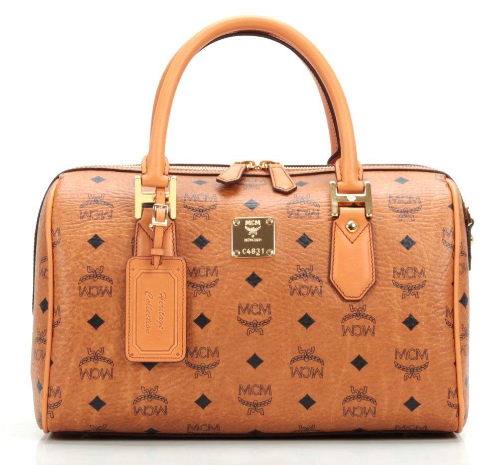 Tasche von MCM, Heritage M Henkeltasche cognac