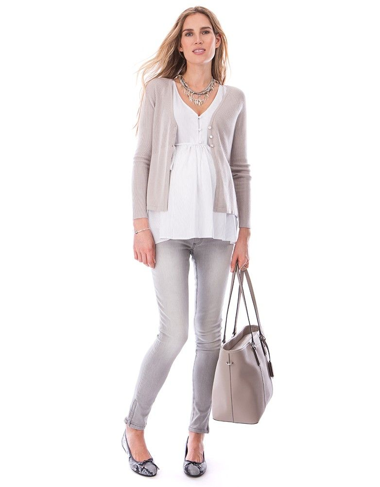b4ca0c58853 Seraphine's Pinstripe Woven Maternity & Nursing Top is an easy everyday  style, perfect before, during & after pregnancy.