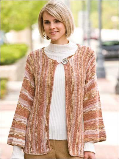 Knitting Cardigans Jackets Sideways Kimono Free Knit