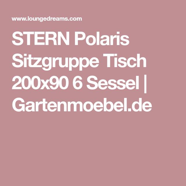 Stern Polaris Sitzgruppe Tisch 200x90 6 Sessel Gartenmoebel De Gartenmobel Sitzgruppe Sessel