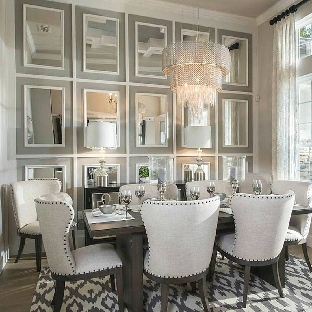 pin by chstyling on dream home dining area dining room mirror wall dining room dining room. Black Bedroom Furniture Sets. Home Design Ideas