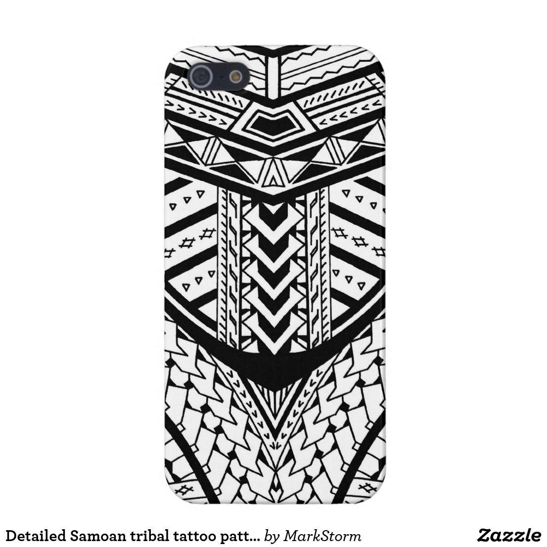 Detailed Samoan Tribal Tattoo Pattern Iphone Case