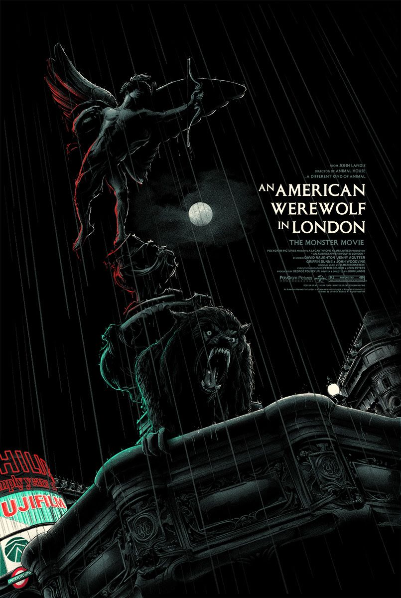 New Posters By Matt Ryan Tobin And Gary Pullin From Mondo Onsale Info American Werewolf In London London Poster Alternative Movie Posters