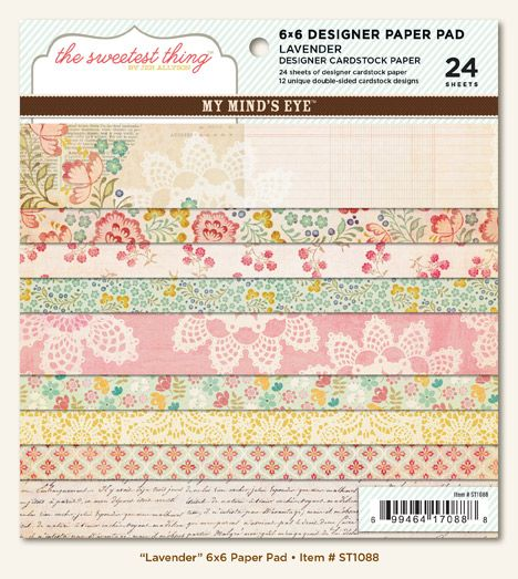 You Be Tiful Everyday 6x6 Scrapbooking Paper Crafting Pad Authentique 24 S NEW