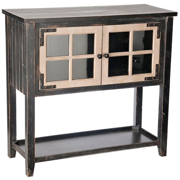 Distressed Black Windowpane Console Table 17010 Rsd Liked On