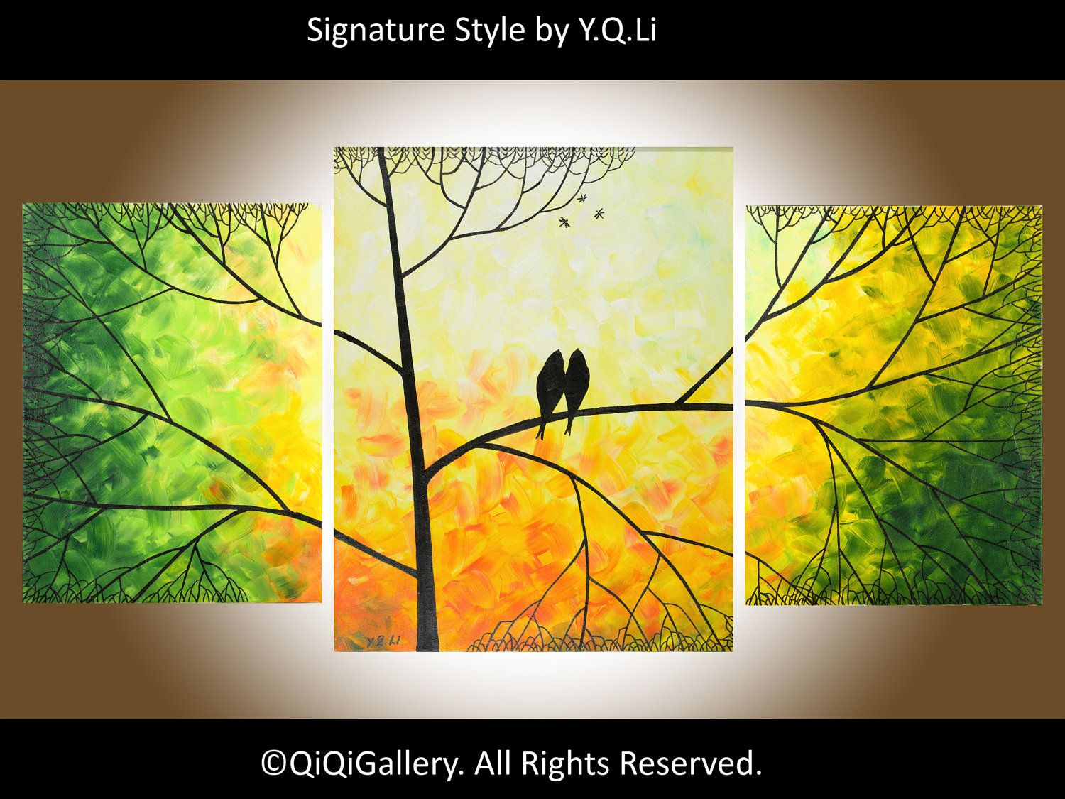 Valentines+day+gift+Abstract+Landscape+Painting+by+QiQiGallery,+$ ...