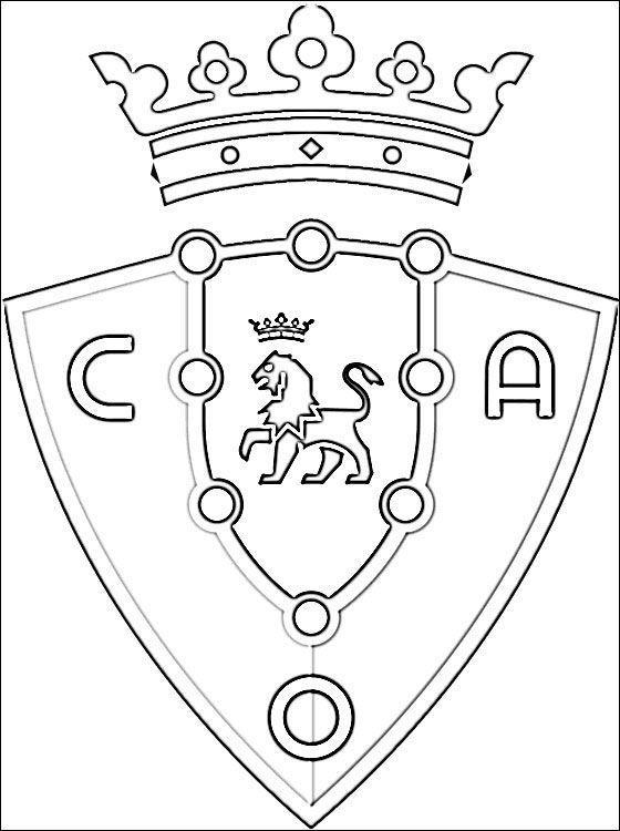 escudo osasuna para colorear - Buscar con Google | Cosas variadas ...