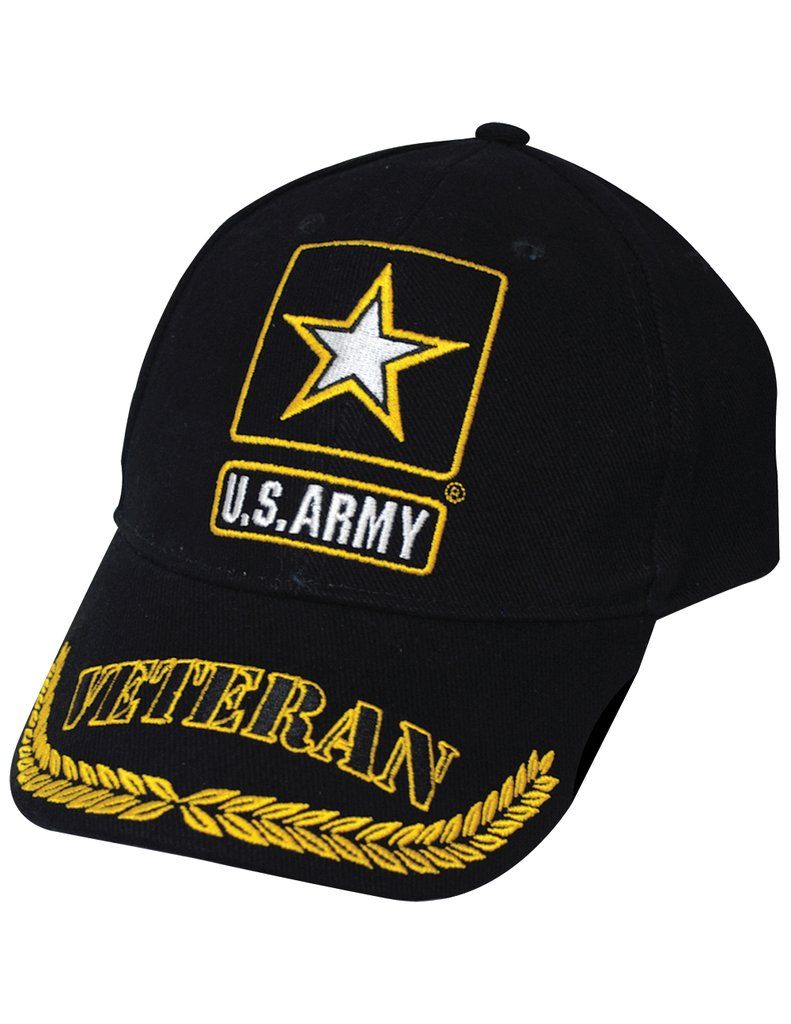 Us Army Symbol Veteran Cap 100 Cotton W Embroidered Branch Logo