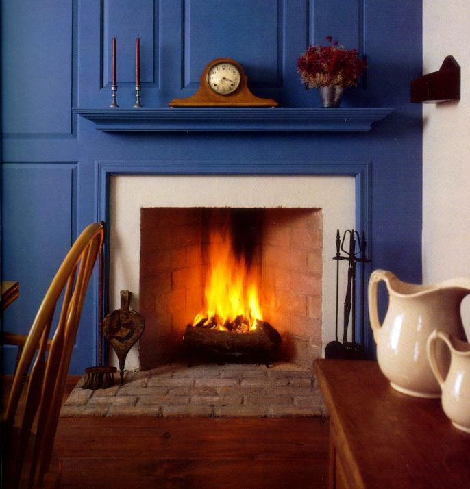 Rumford Fireplace With Integrated Paneling Instead Of A Mantle