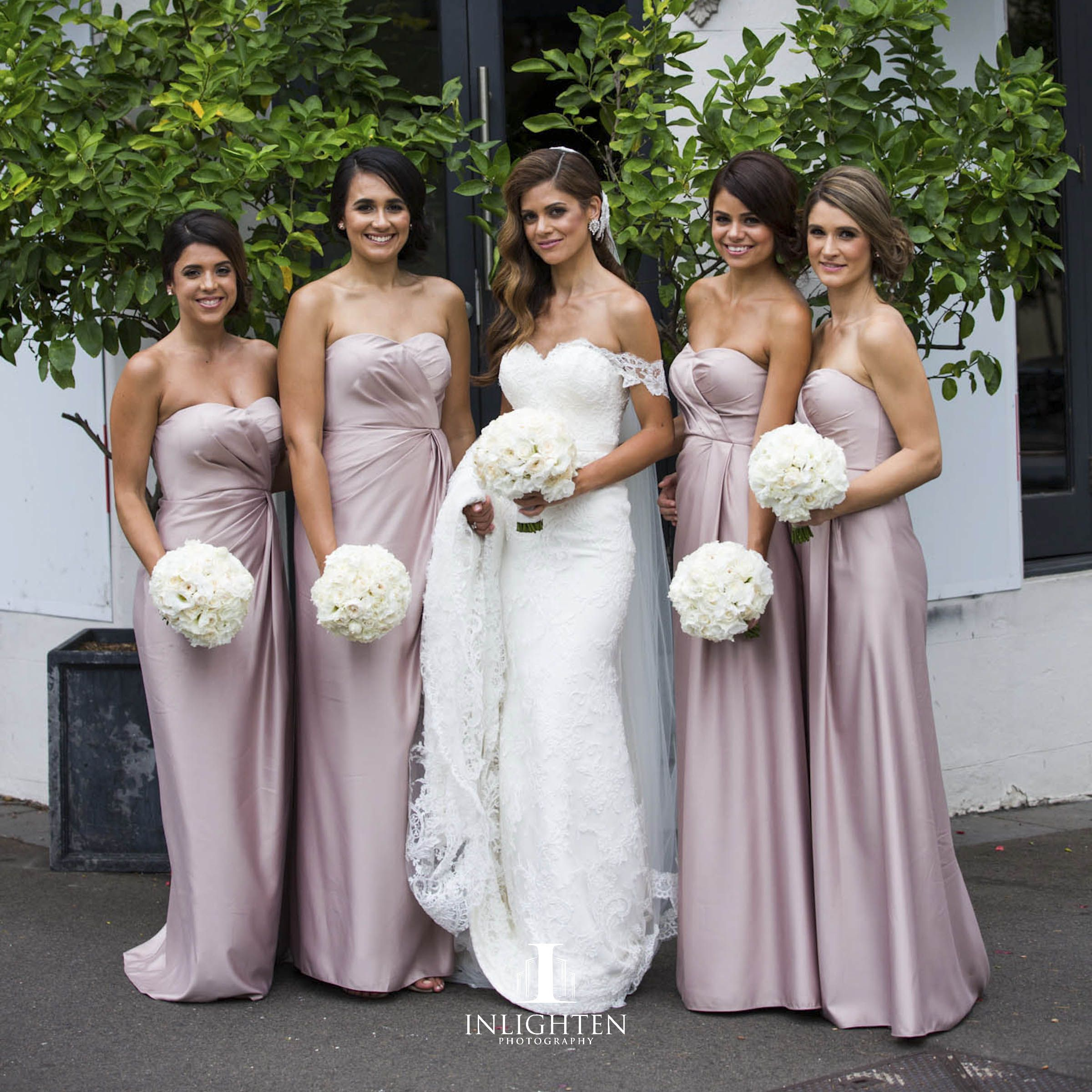 Our gorgeous bride kystal chronis on her wedding day bridesmaids bridesmaid ombrellifo Images