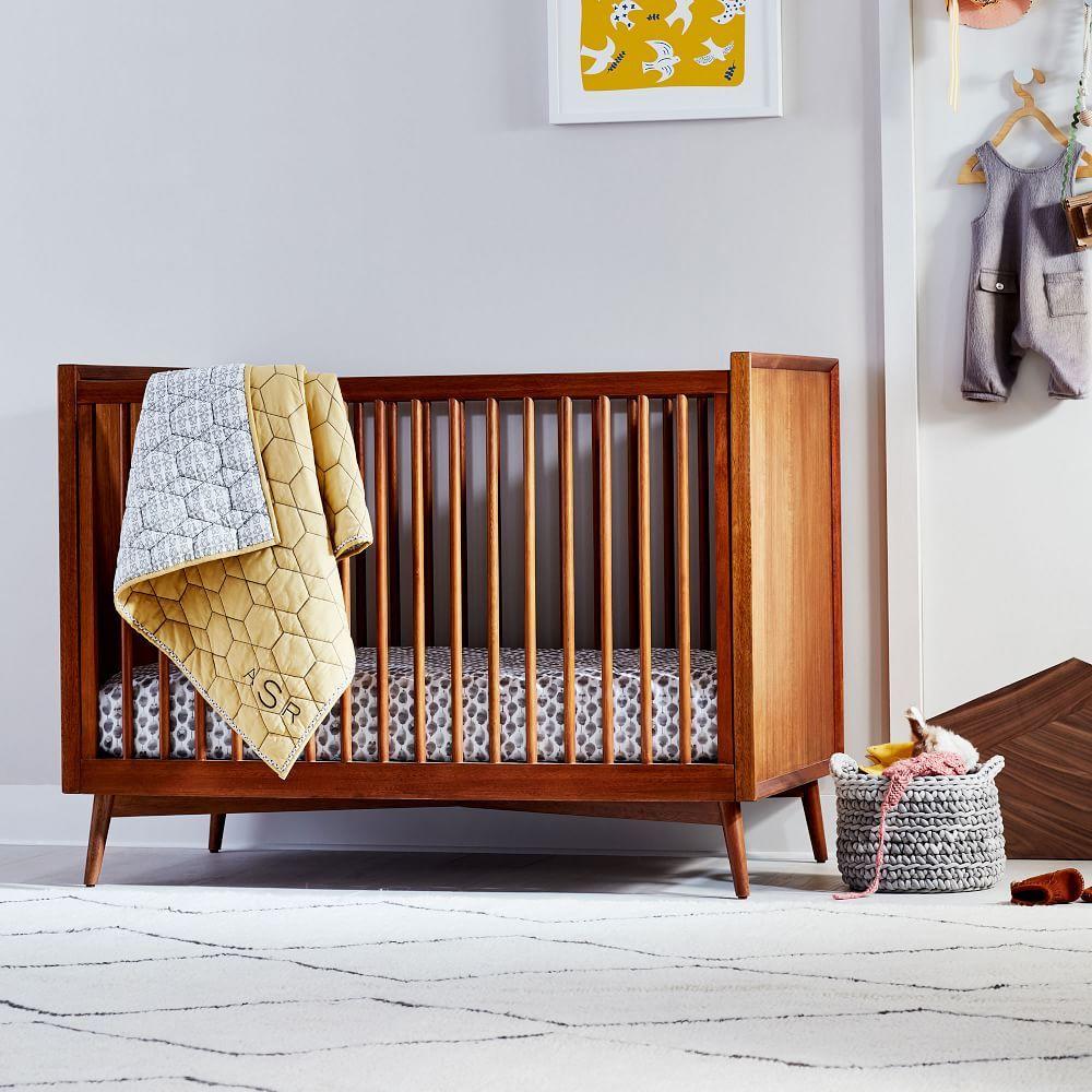 Mid Century Convertible Crib Acorn Cribs Mid Century