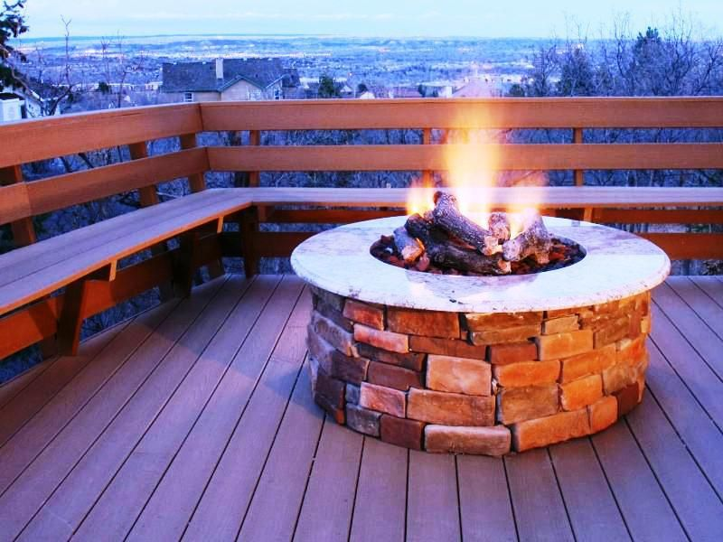 This photo about Why Gas Fire Pits, entitled as Propane Gas Fire