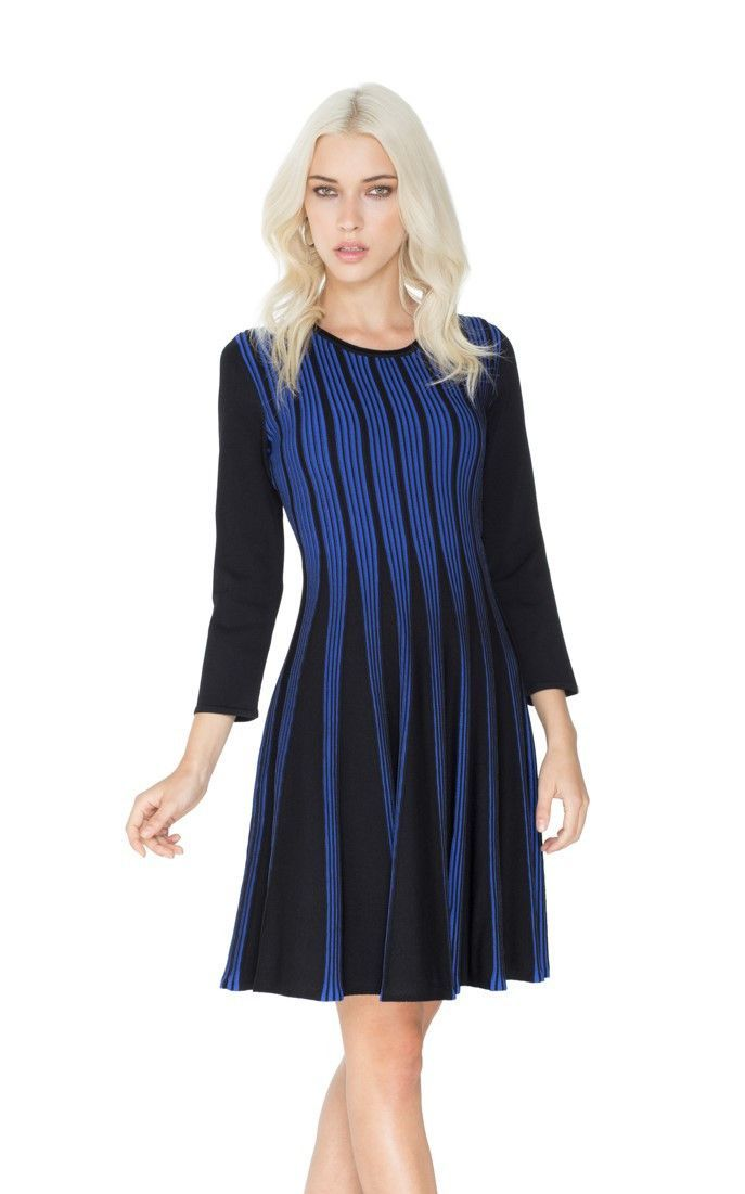 GABBY Fit and Flare Knit Dress