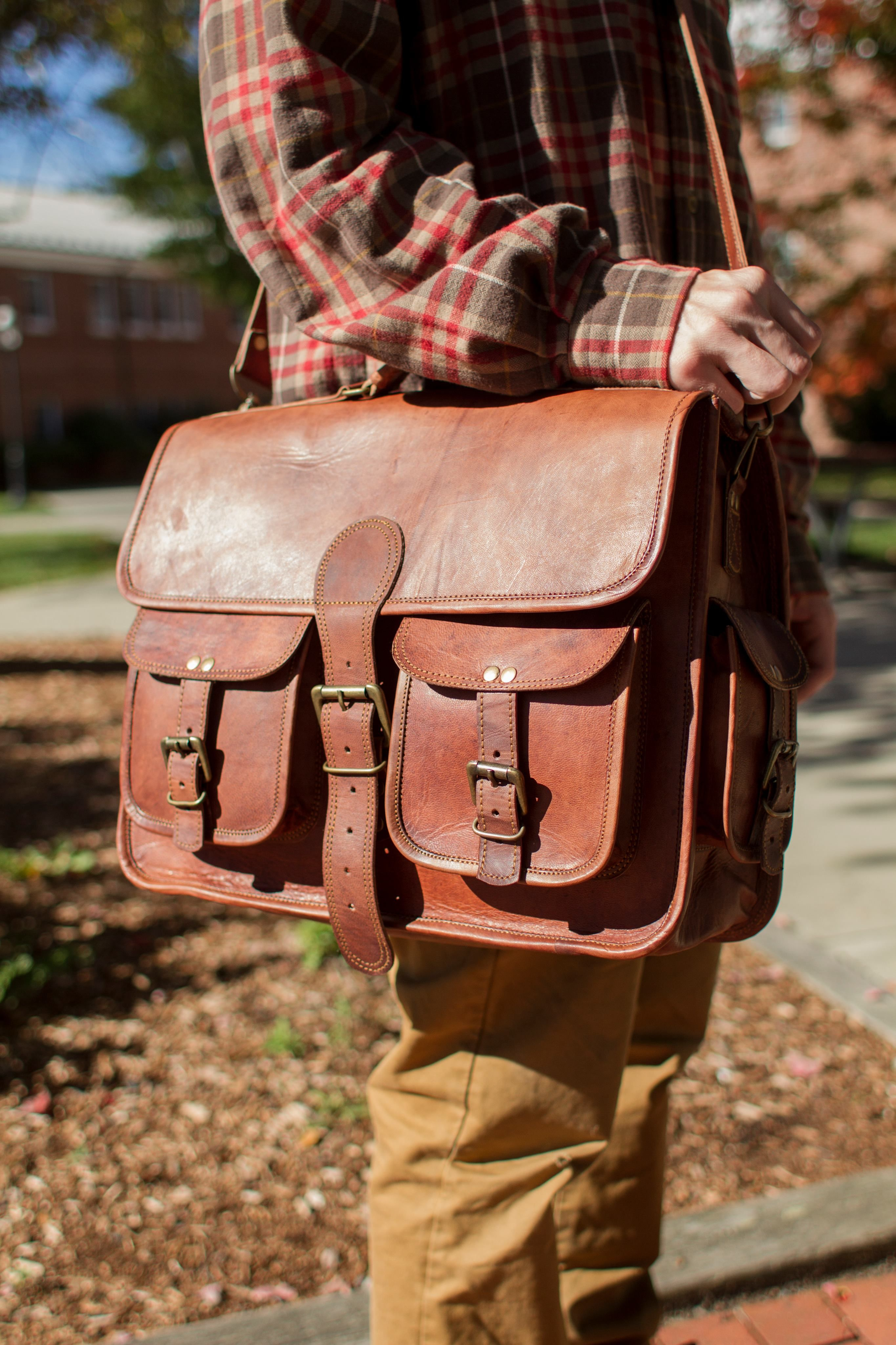 eab6cb97b22 Our Leather Nomad Carryall is now available for Immediate Shipping! Not  only does it ship