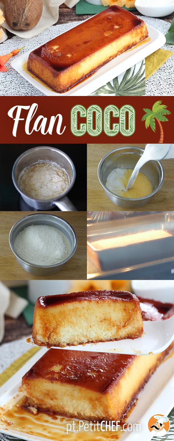 Pudim De Coco Mágico Receita Petitchef Receita Receitas De Cheesecake Receitas Flan De Coco