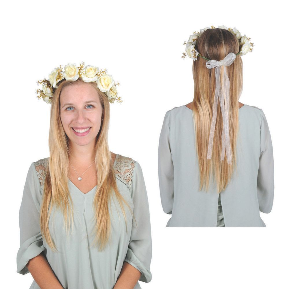 White Floral Wedding Crown #crownheadband
