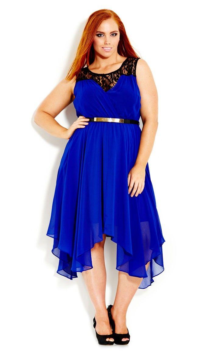 Plus Size Layer Keyhole Dress - City Chic   Fashion Loves ... Plus ...