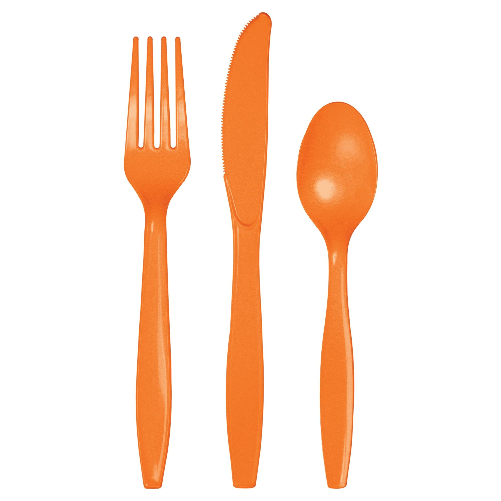 Creative Converting Touch of Color Premium 24 Count Plastic Forks Mimosa