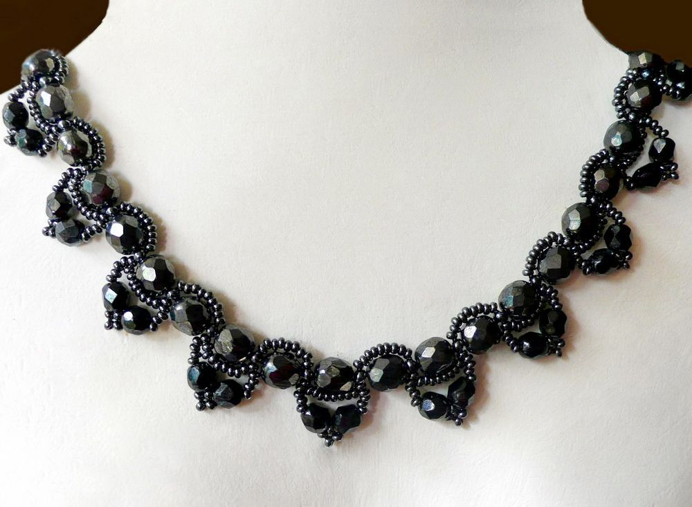Free pattern for necklace Chantal | collares | Pinterest | Collares ...