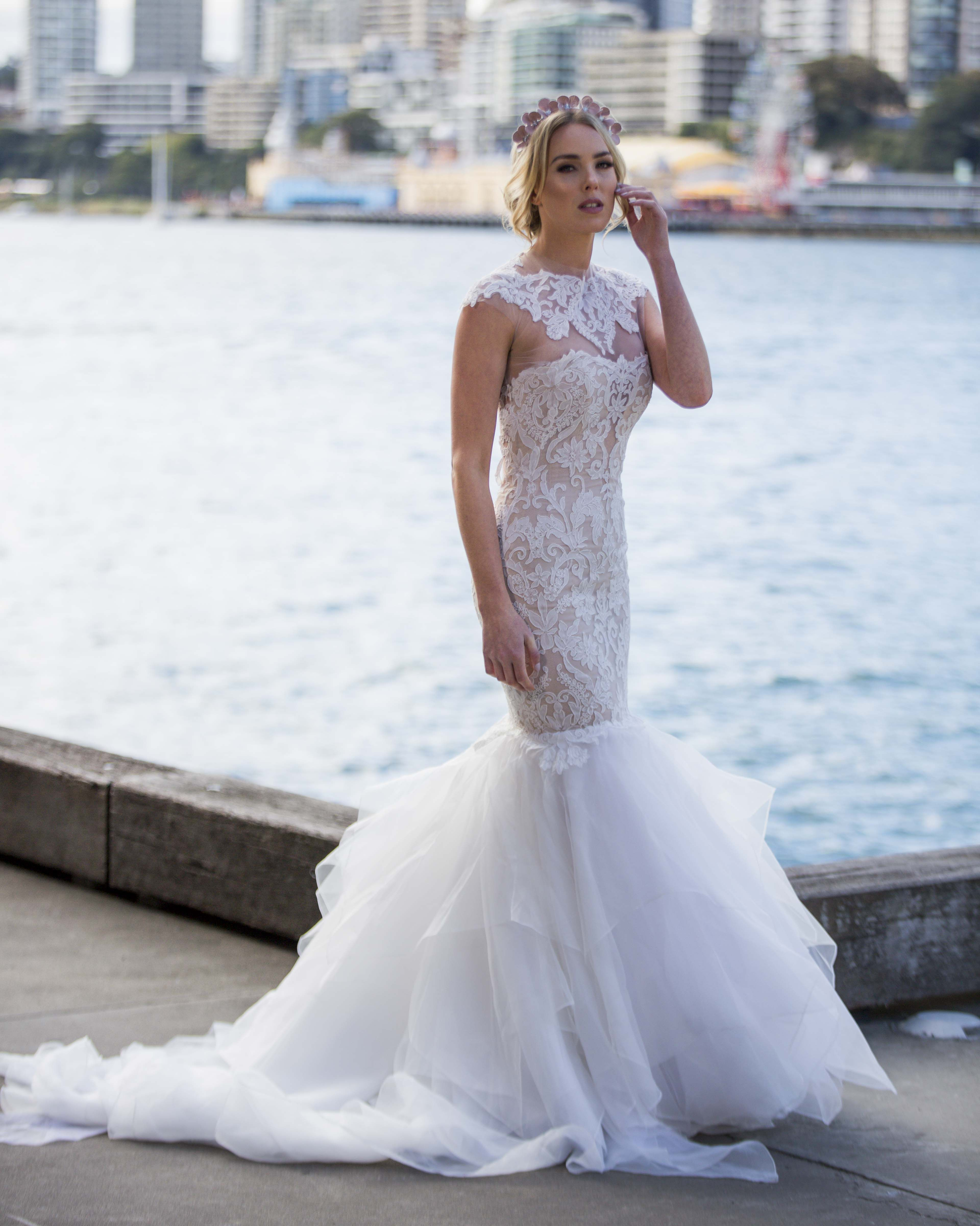 Gorgeous Sydney Photo shoot by @eternalbridal featuring Ines by Ines Di Santo Love gown | Head Pieces by Viktoria Novak | Photography by Inlighten Photography | Hair by Natalie Anne Hair | Makeup by Melissa Sassine Makeup