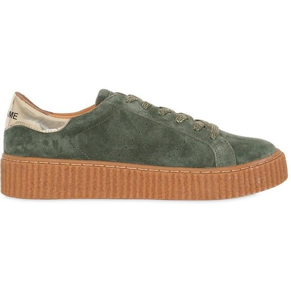 No Name Women 30mm Picadilly Suede Creeper Sneakers (£83) ❤ liked on  Polyvore