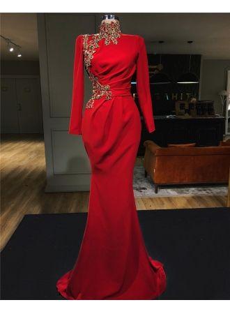 Abendkleid Rot Lang Günstig | Abendkleider mit Ärmel ...