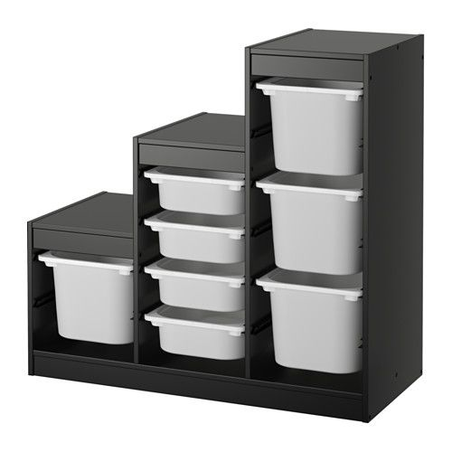 Trofast Storage Combination Black White Diy Living Room