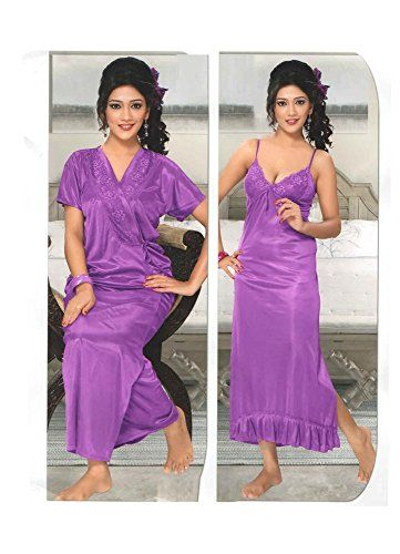 Indiatrendzs Women s Sexy Hot Nighty Purple 2pc Set Bedroom Sleepwear  Freesize Indiatrendzs http    a15d935e7