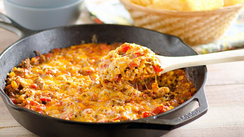 Cheesy Nacho Beef Skillet images