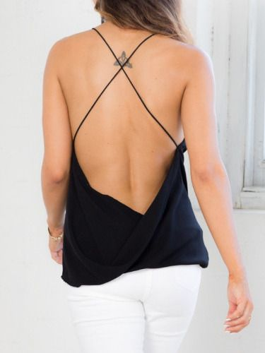 81d894f0b46a0a Black+Criss+Cross+Backless+Loose+Cami+Top+8.99 | Fashion: My Style ...