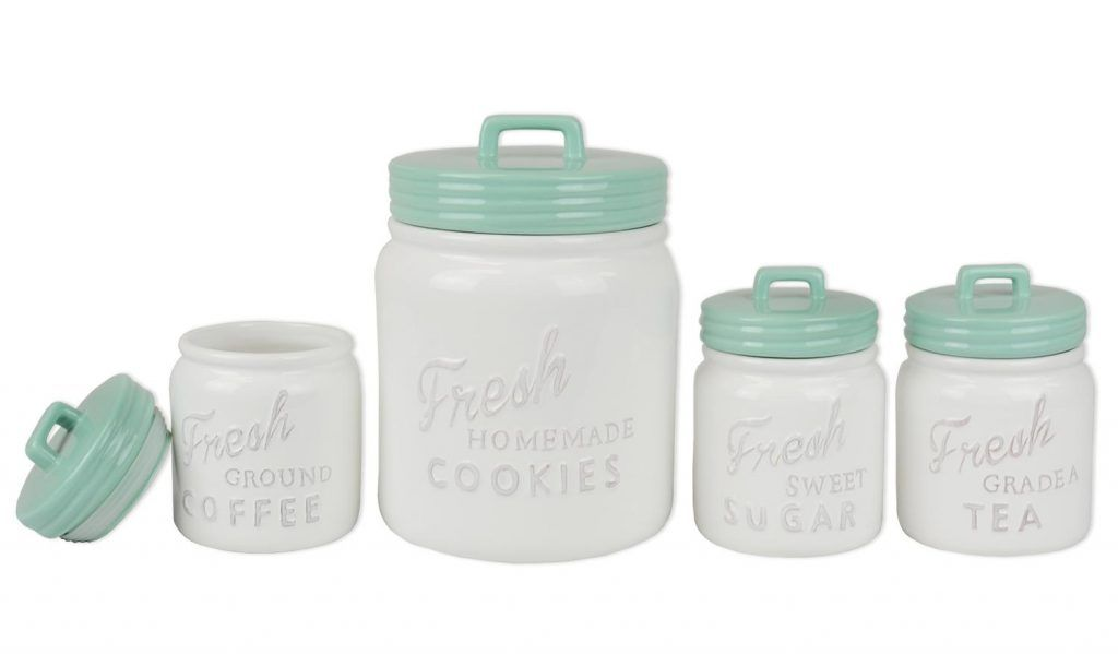 Vintage Kitchen Canisters For Farmhouse Or Country