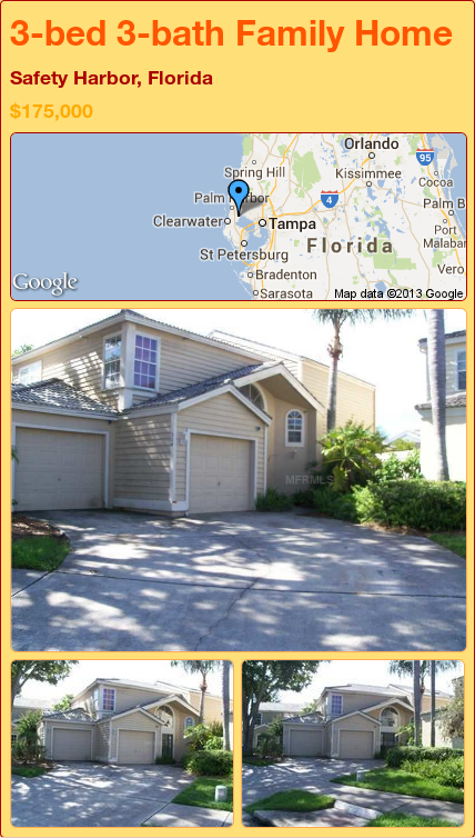 3bed 3bath Family Home in Safety Harbor, Florida