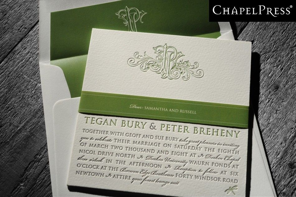 Letterpress printing melbourne australia - Chapel Press - Wedding ...