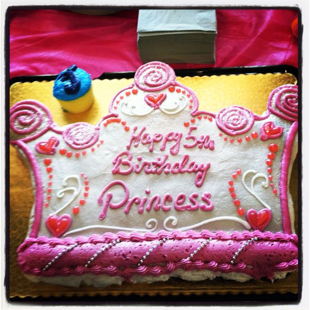 Cool Princess Crown Cupcake Cake Blue One Is For Taylors Twin Brother Funny Birthday Cards Online Inifodamsfinfo