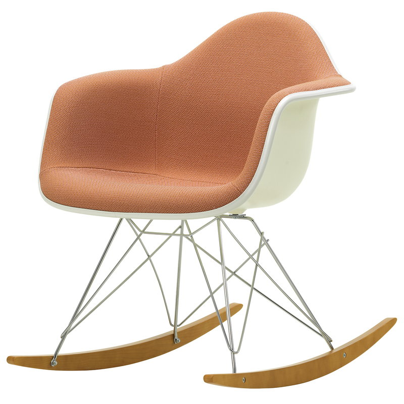 Vitra Eames RAR rocking chair, upholstered, pale rose