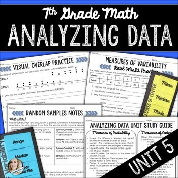 Analyzing Data Unit  Th Grade Math  Math Curriculum And Homework