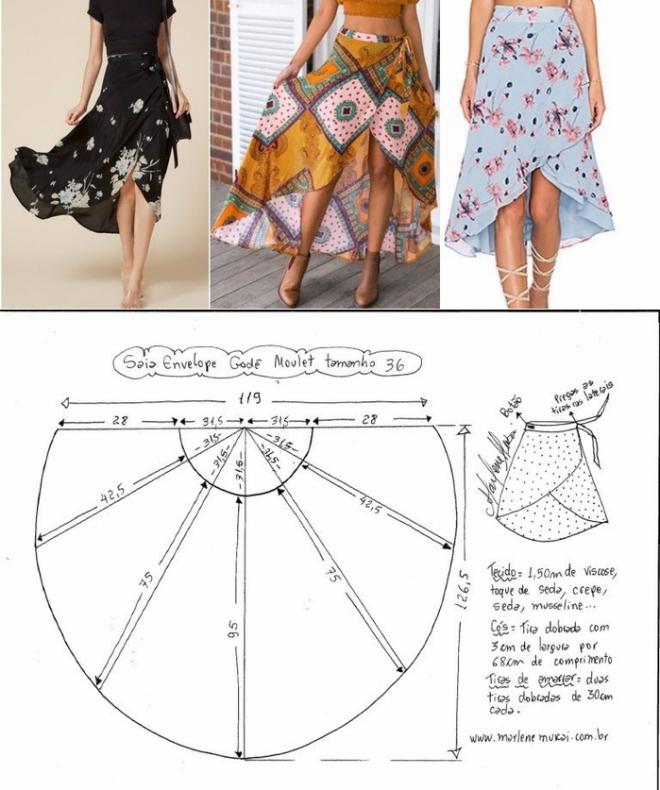 Шью сама | Patrones, Costura y Falda