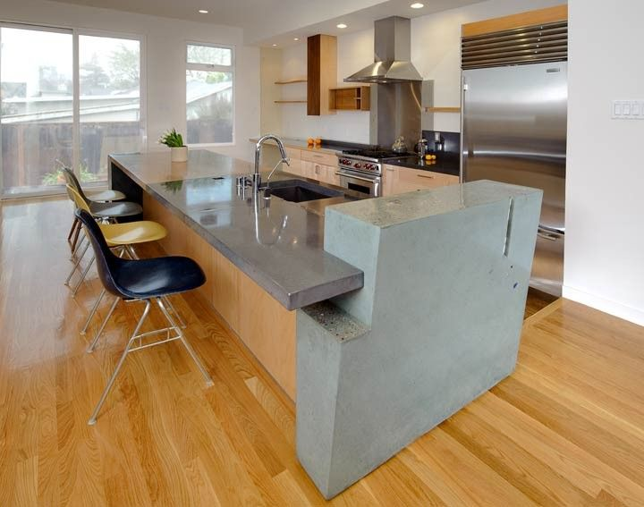 Kitchen Concrete Countertop Island Made With Cheng Pro Formula In