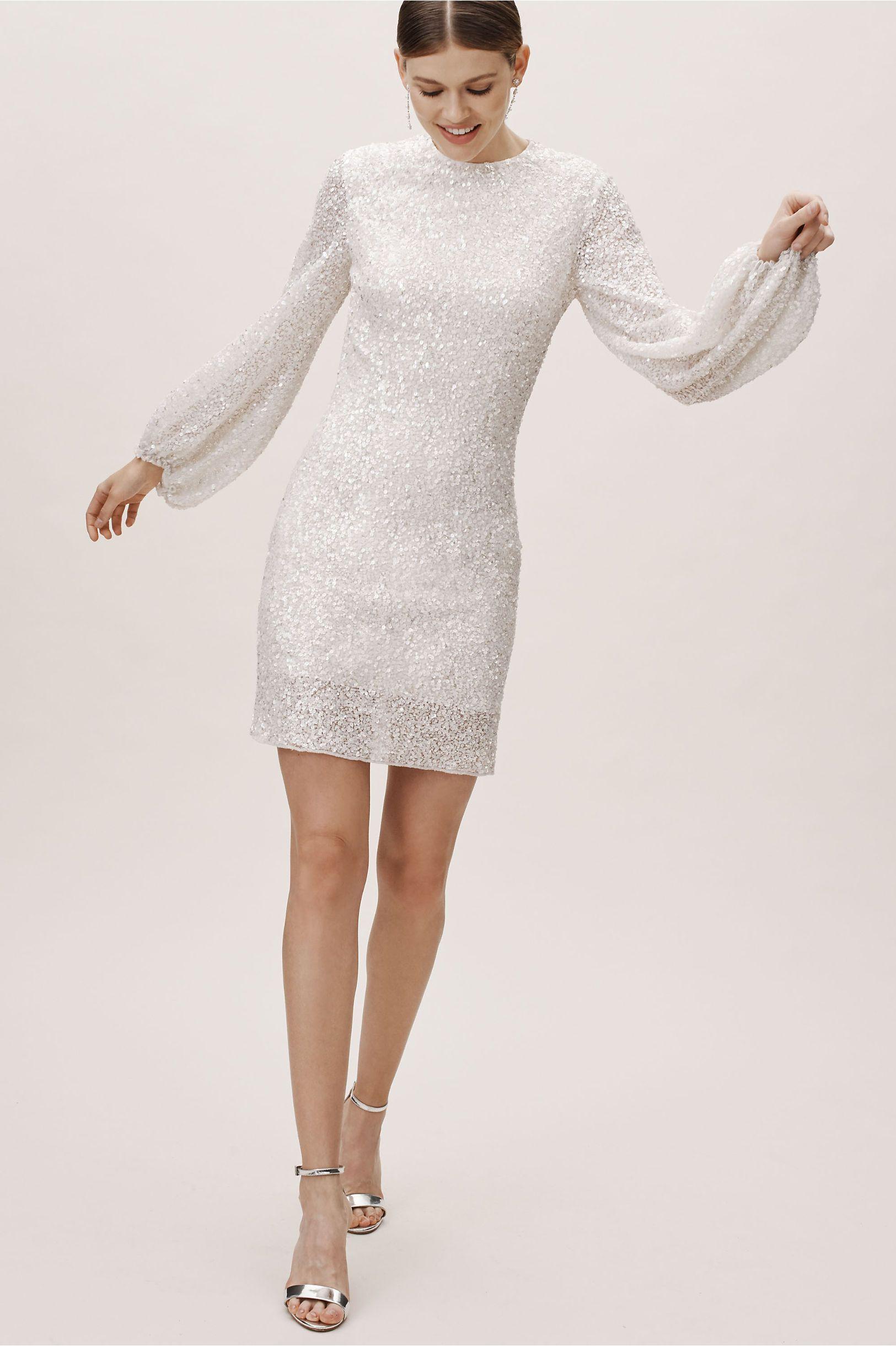 Goldie Dress Bhldn Long Sleeve Sequin Dress Dresses Conservative Wedding Dress [ 2440 x 1625 Pixel ]
